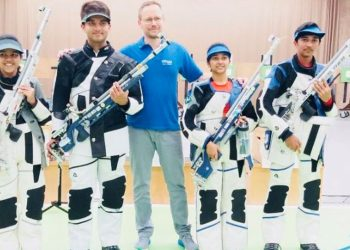 Manu won the women's 10m Air Pistol on day three of competitions while Saurabh bagged a team gold in the men's event.