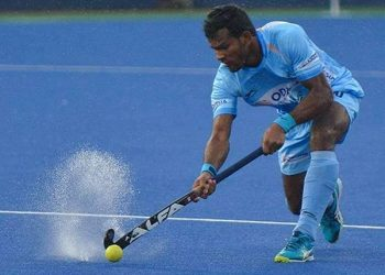 Amit Rohidas (pictured) was one of the scorers for India.