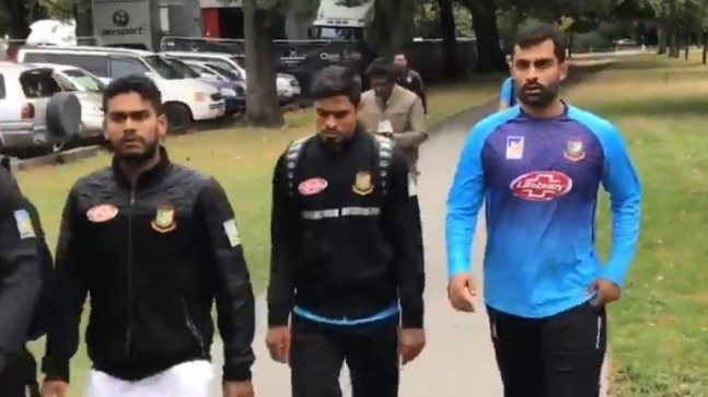 Bangladesh Cricket Board spokesman Jalal Yunus said most of the team were bussed to the mosque in Christchurch and were about to go inside when the incident happened.