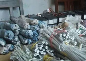 Superintendent of Police, Koteswar Rao Nalabhat said a police team raided a house in Boga village Friday night and seized the explosive substances.