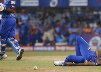 Bumrah suffered the injury when he fell while bowling the team's final over.