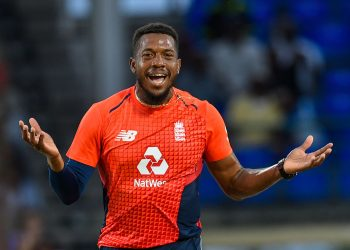 Chris Jordan ripped through West Indies' middle order at Basseterre, Friday