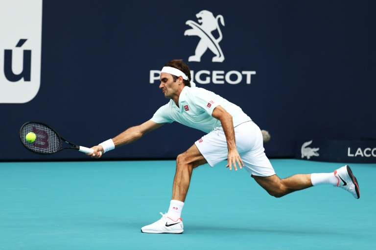 Roger Federer dispatched Filip Krajinovic in straight sets at the Miami Open (AFP)