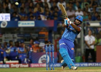 Rishabh Pant hits one out of the park during his blistering knock against Mumbai Indians, Sunday