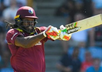 Gayle signed off on his ODI career in the region with a blistering 77 off just 27 balls.