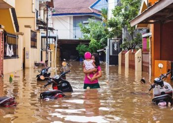 Dozens of homes were damaged by floodwaters, national disaster agency spokesman Sutopo Purwo Nugroho said.
