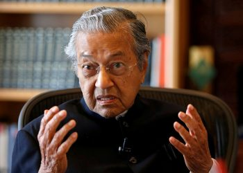 Mahathir, 93, is in the Philippines for the first time since his shock election victory last year. (Image: Reuters)
