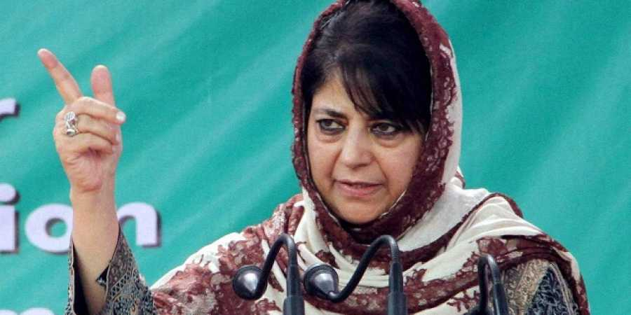 The PDP chief president, meanwhile, asked police not to take action against anyone involved in the pelting of stones at her motorcade in Anantnag district Monday.
