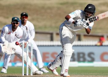 At stumps, New Zealand were 451 for four, leading by 217 with six wickets in hand.