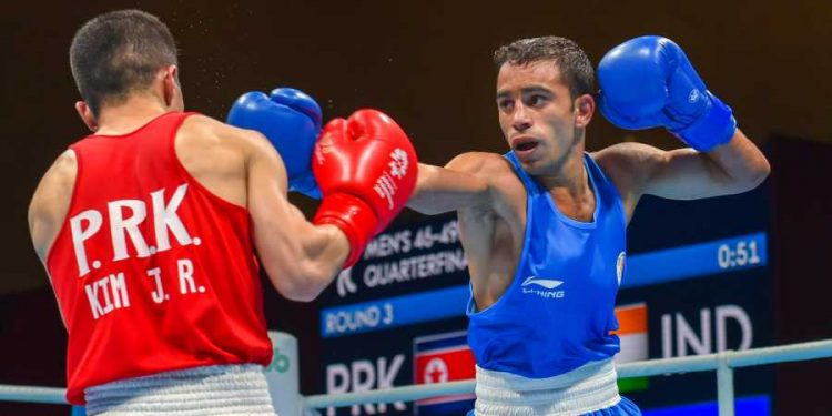 Amit Panghal (pictured) will be making his competitive debut in the 52kg category. (Image: PTI)