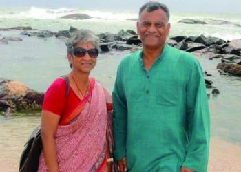 Abhinandan's parents Simhakutty Varthaman and Shobha Varthaman