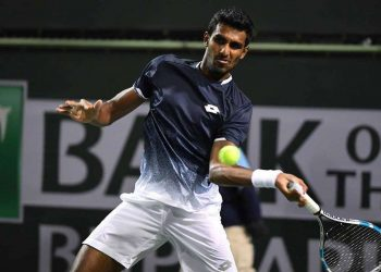 Prajnesh fought hard before losing 3-6, 6-7(4) to the tall Croat, who fired 16 aces in the one hour and 13-minute contest. (Image: ATP)