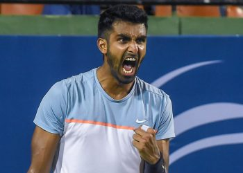 Prajnesh defeated Great Britain's Clarke 6-4, 6-4 in the second qualifying round of the ATP-1000 tennis tournament in Miami to progress to the main draw.