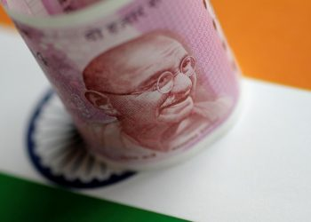 An India Rupee note is seen in this illustration photo June 1, 2017. (REUTERS)