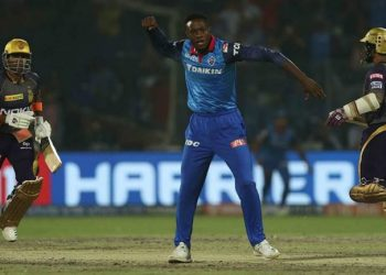 Rabada helped Delhi Capitals defend the lowest total in a Super Over in IPL history as they won by three runs after both teams ended up scoring 185 in the allotted 20 overs each.
