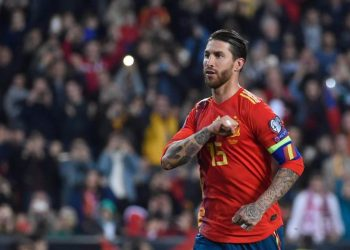 Ramos stepped up and confidently dispatched a 'Panenka' spot-kick down the middle to score his 16th goal of the season for club and country. (Image: Reuters)