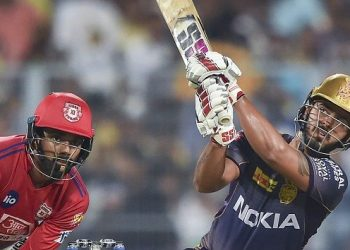 Back at No.4 in their second match, Rana scored a 34-ball 63 against KXIP Wednesday to overtake Delhi Capitals' Rishabh Pant in the early Orange Cap race. (Image: PTI)