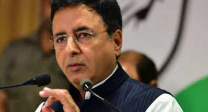 Congress chief spokesperson Randeep Surjewala
