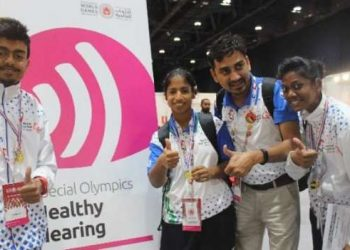 The Indian team of 284 athletes also clinched 154 silver and 129 bronze medals in its highly successful campaign at the prestigious event.