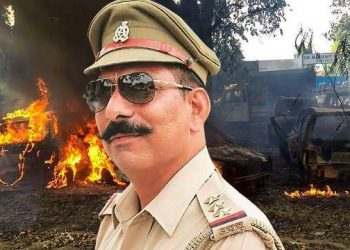 Police inspector Subodh Kumar Singh who was brutally murdered during the violent incident at Bulandshahr