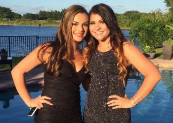 Best friends Sydney Aiello (L) and Meadow Pollack