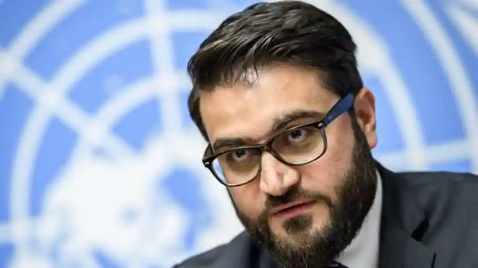 National Security Adviser of Afghanistan Hamdullah Mohib speaking at an event organised at Asia Society. (AFP)