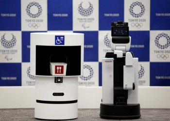 The robots can carry food and other goods, guide viewers to their seats and provide event information. (Image: reuters)