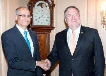 Foreign Secretary Vijay Gokhale with US Secretary of State, Mike Pompeo