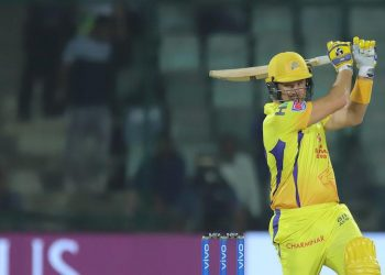 Speaking at the end of the game, Watson had a good laugh and said that the wicket was better than the one they played on in the opening game in Chennai. (Image: PTI)