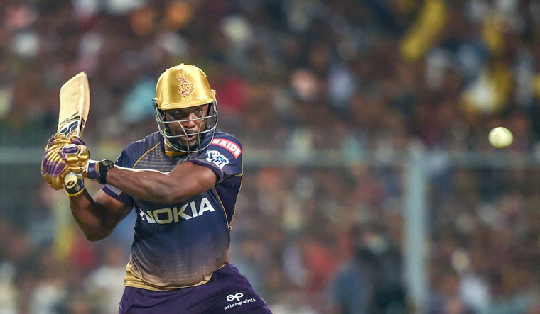 Russell made 80 off 40 balls, hitting eight sixes and six fours at the iconic Eden Gardens.