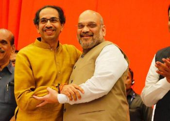 The Uddhav Thackeray-led party sought to corner its senior ally over the recent clash between BJP workers in the presence of Maharashtra minister Girish Mahajan at a public rally in Jalgaon. (Image: BJP/Twitter)