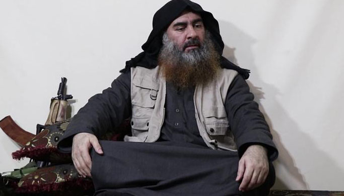 The man is said to be Abu Bakr al-Baghdadi