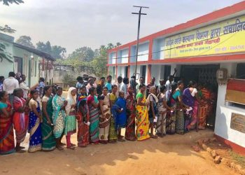 Voting is underway in Raigarh (ST) and six other Lok Sabha constituencies in the third and final phase in the state.