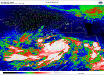 Position of cyclone FANI in the morning of April 30, 2019.