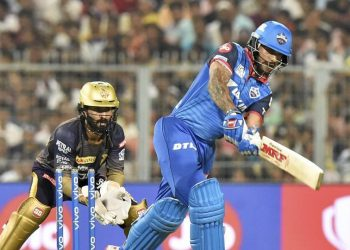 Dhawan smashed an unbeaten 97 from 63 balls to script Delhi Capitals seven-wicket win over Kolkata Knight Riders. (Image: PTI)