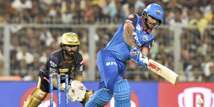 Dhawan batted through the innings to guide Delhi Capitals to a seven-wicket victory over Kolkata Knight Riders in the IPL here.