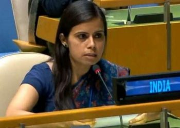 Eenam Gambhir, a counsellor in India's UN mission, raised the issue of more female peacekeeping forces.