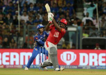 Gayle did not take the field during Mumbai Indians' successful run chase. (Image: PTI)