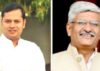 Vaibhav Gehlot (L) and Gajendra Singh Shekhawat