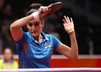 CWG gold medallist Manika beat Andrea Todorovic of Serbia 14-12, 11-5, 11-5, 11-8, in the round of 64.