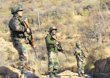 Reports said that intermittent firing were still continuing in the area. (Image: PTI)