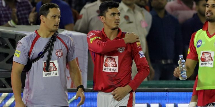 Aghanistan spinner Mujeeb hurt his shoulder in the match played Tuesday. (Image: KXIP)