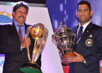 Both Kapil and Dhoni have skippered India to World Cup glory in 1983 and 2011, respectively.