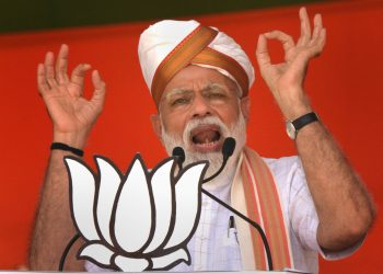 Prime Minister Narendra Modi addresses an election campaign rally (PTI Photo)