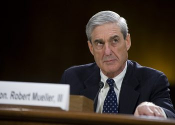 UNITED STATES - JUNE 19: FBI Director Robert Mueller testifies before a Senate Judiciary Committee hearing in Dirksen Building on oversight of the FBI. (Photo By Tom Williams/CQ Roll Call)