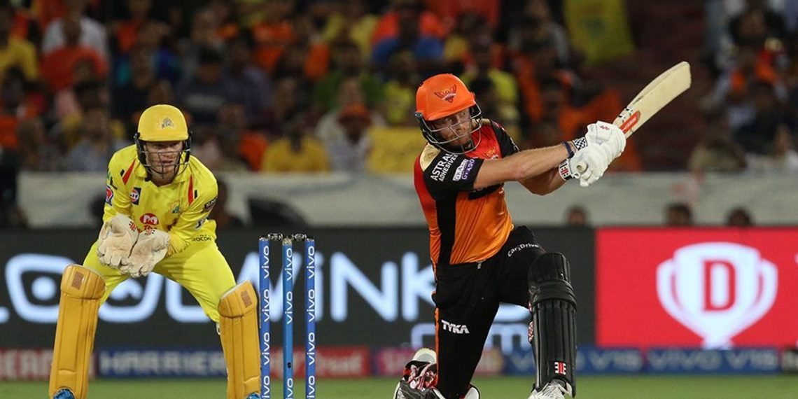 Jonny Bairstow plays a shot during his match-winning innings against Chennai Super Kings, Wednesday
