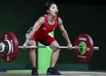 The 24-year-old Mirabai lifted 86 kg in snatch and a personal best of 113kg in clean and jerk for a total of 199kg.