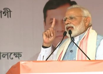 Modi is scheduled to address two poll rallies in Assam Thursday to campaign for the second phase of polling to be held April 18.