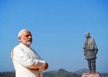 Speaking at an election rally here, Modi said though the Congress says Patel was their leader, no leader of that party has visited the statue so far.