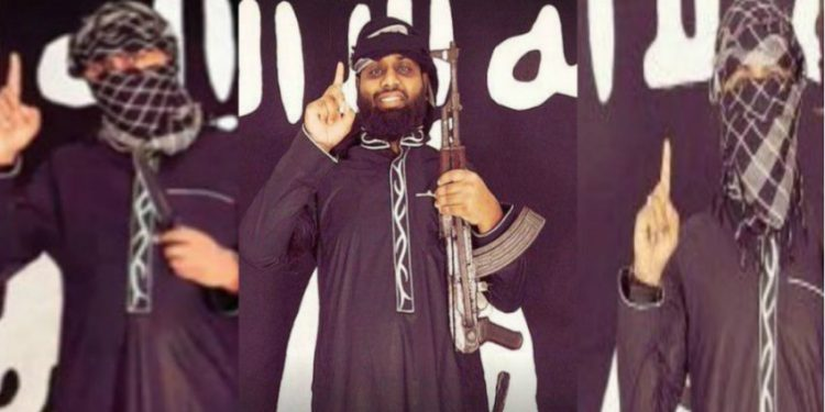 Mohamed Hashim Mathaniya is the sister of Mohamed Zahran Hashim (centre), the man Sri Lankan authorities believe was one of the leaders of the attacks.